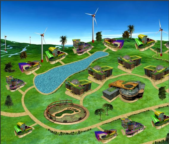Eco Campus contains virtual schools and ecological footprint calculator